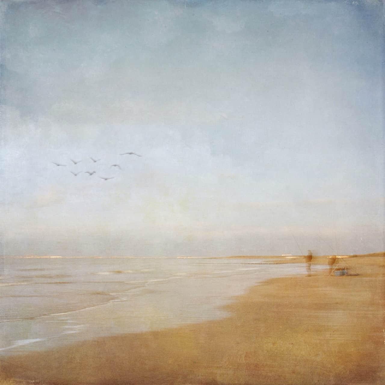 "Maria Menze, ""Angeln am Strand"", k. A."