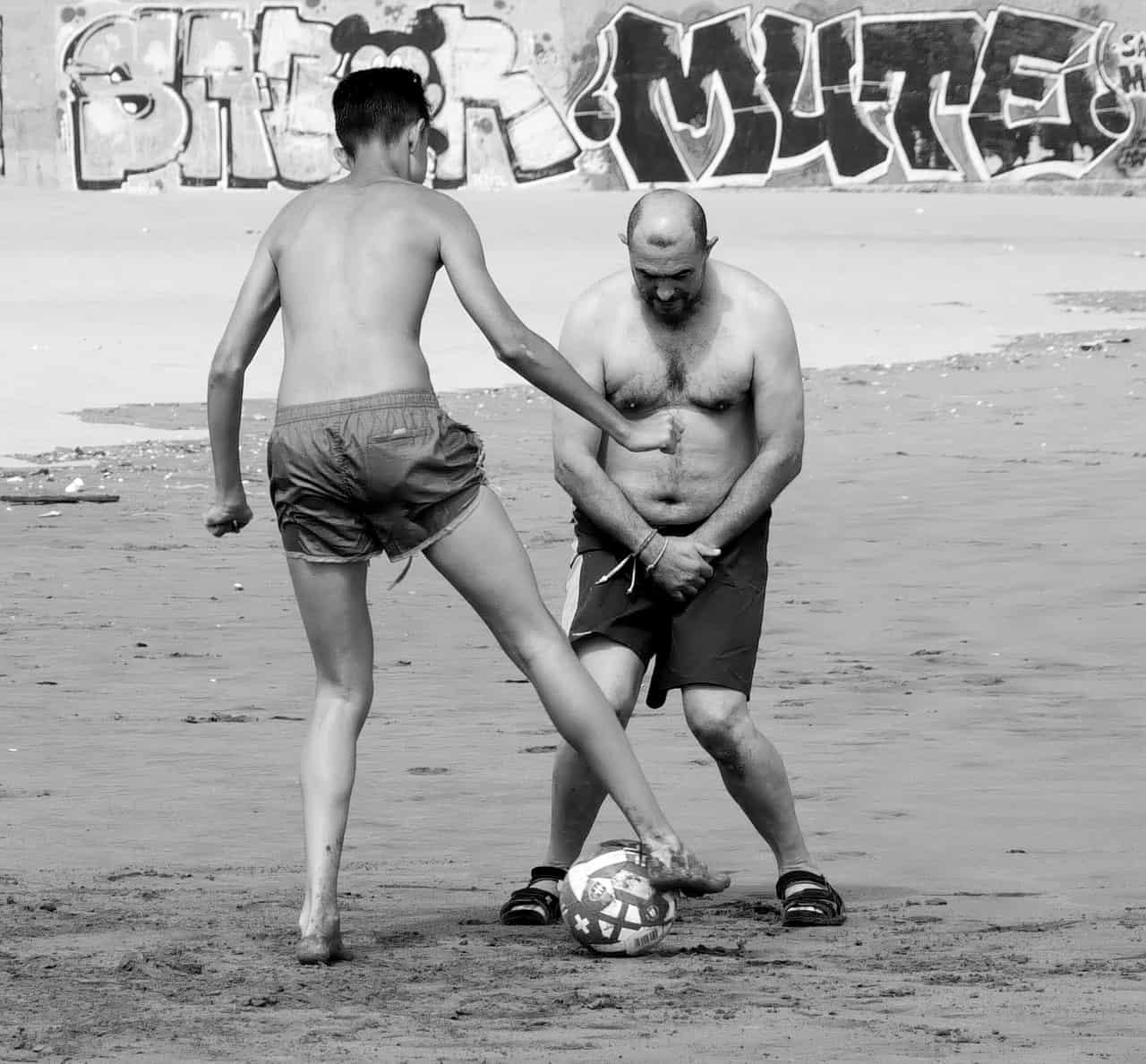 "Marc Boterham, ""Sonntags, Strand, Fußball"", Panasonic Lumix G5"