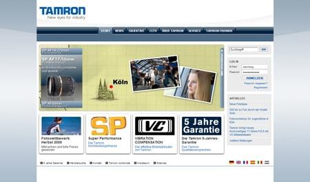 tamron_website_screenshot