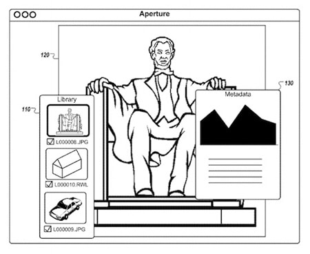 Apple Aperture iPad App Patent