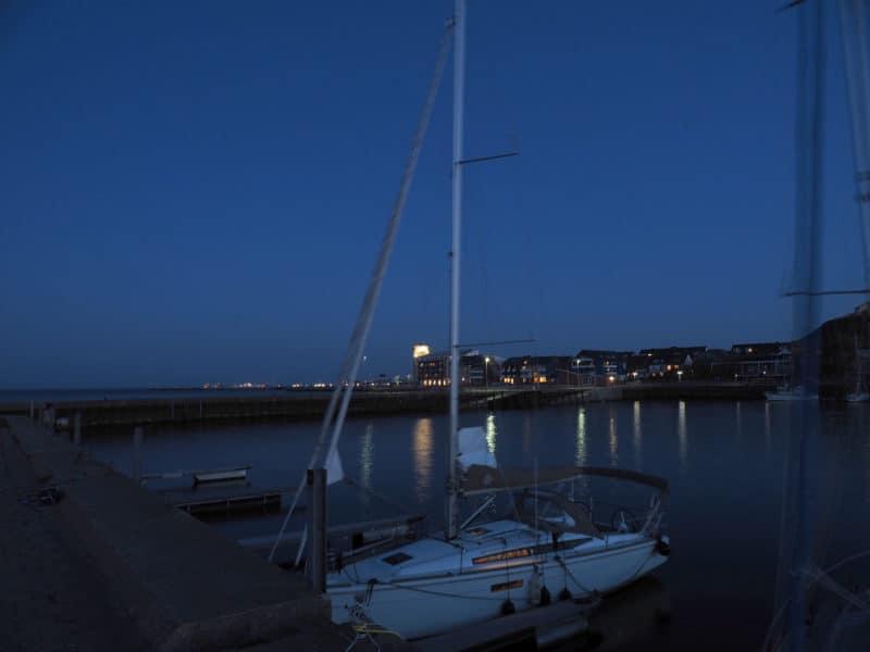 Nachtaufnahme auf Helgoland