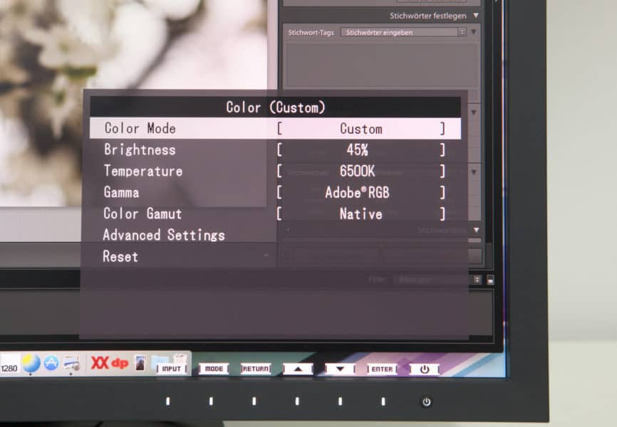 Eizo CS2420 Farbeinstellung