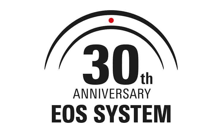 canon 30 jahre eos logo