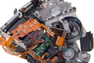 Zerstörte Kompaktkamera
