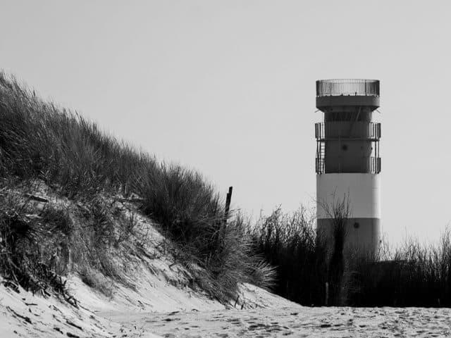 Helgoland Düne Leuchtturm Schwarz/Weiß
