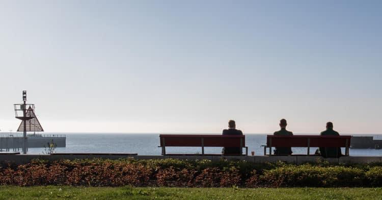 Helgoland Blick aufs Meer