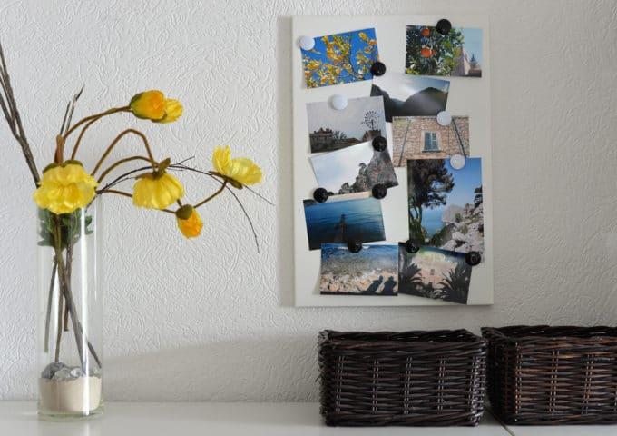 Bilder an Blechtafel