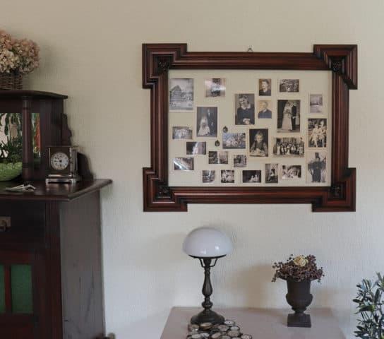 Mehrere Bilder in altem Bilderrahmen