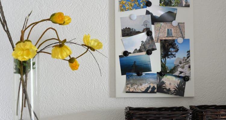 Bilder an Magnettafel