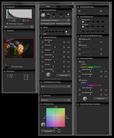 Sigma Photo Pro Werkzeuge