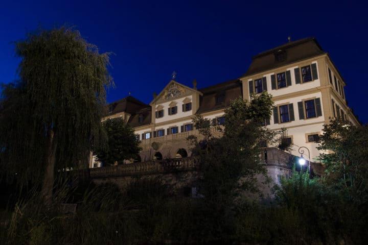 Hammelburg Kellerei Schloss Nacht