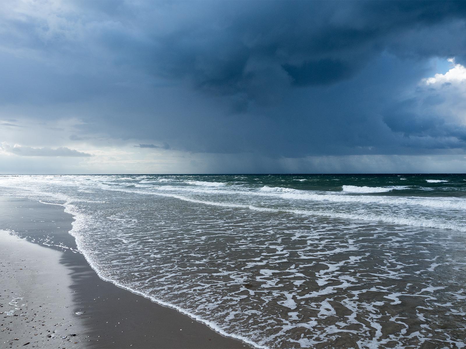 Blavand, Strand, schlechtes Wetter