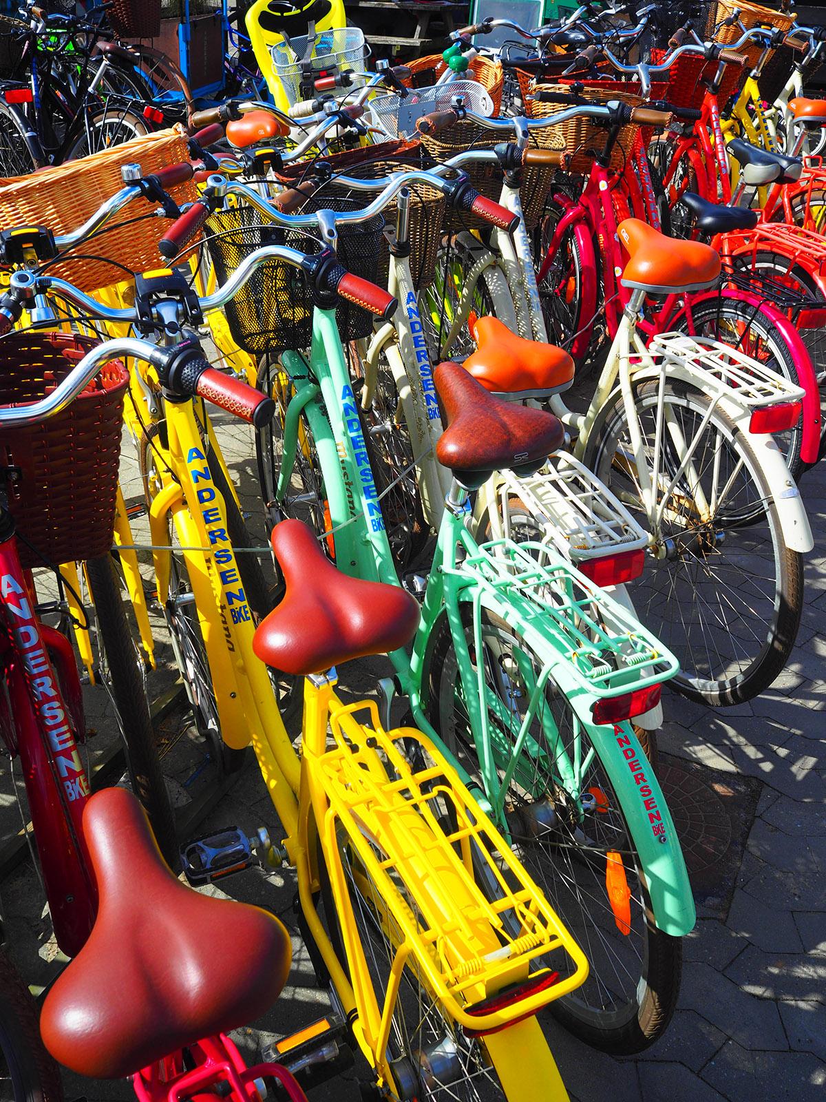 Bunte Fahrräder