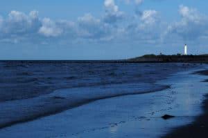 Strand von Blavand am Abend