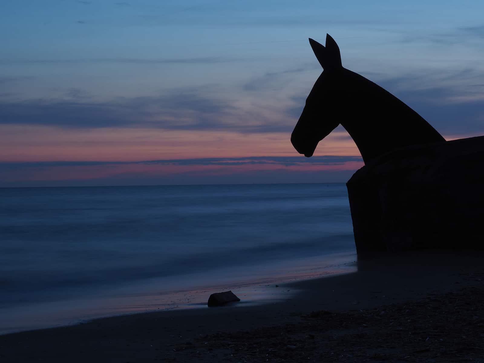 Kunst am Strand von Blavand. Kamera: Olympus PEN-F