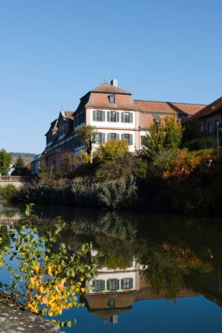 Hammelburg, Kellereischloss und Weiher. Kamera: Sigma sd Quattro H
