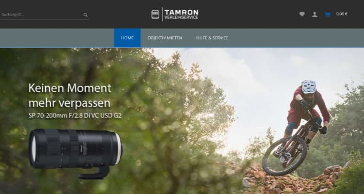 Tamron Verleihservice