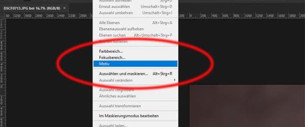 Adobe Photoshop CC Motivauswahl