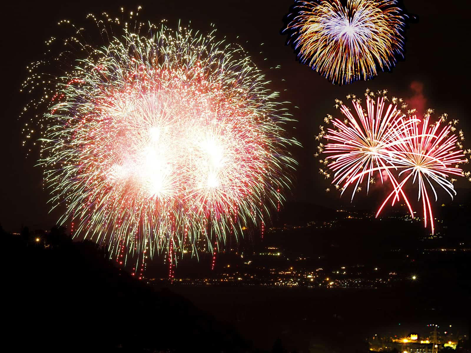 Feuerwerk über dem Gardasee