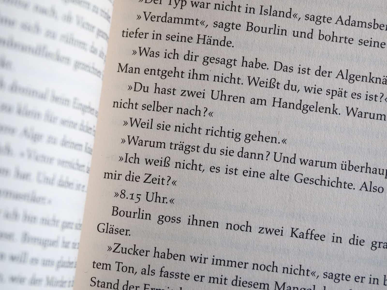 Text in einem Buch