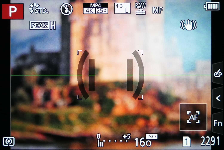 Panasonic Lumix Sucheranzeige