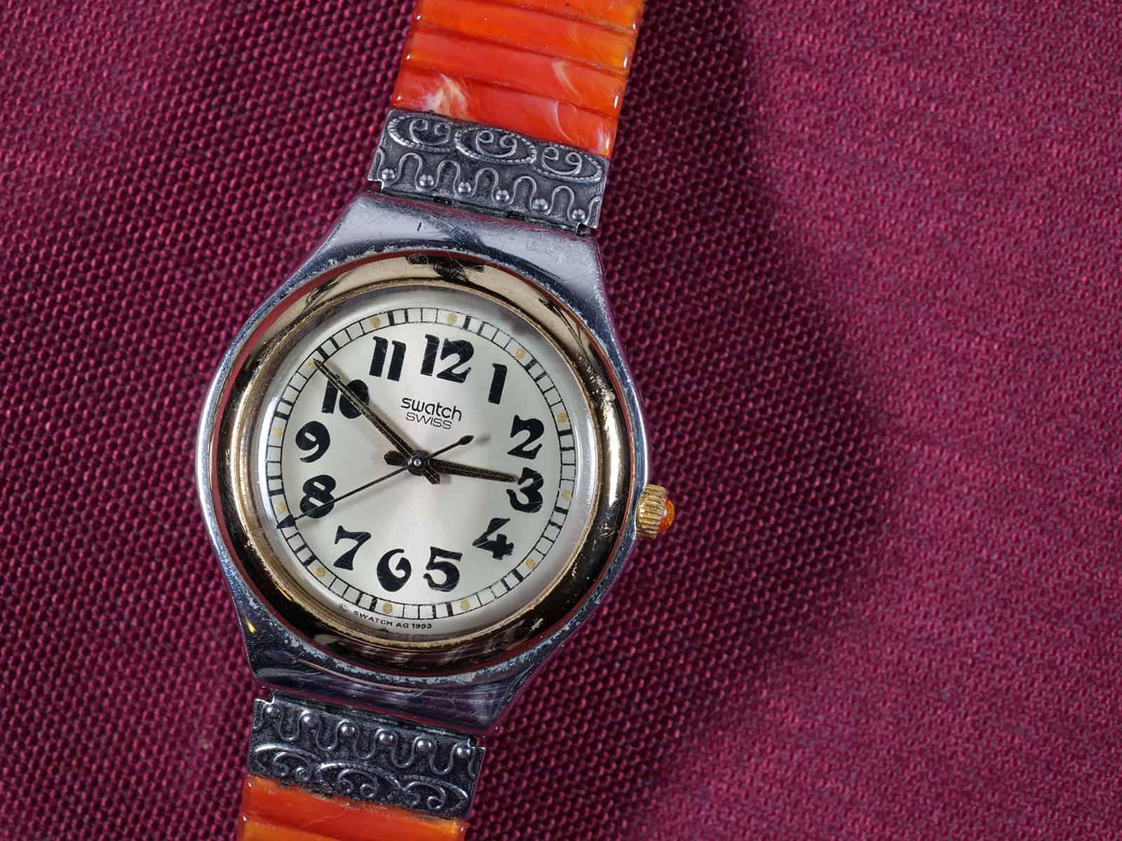 Swatch-Uhr, Nahaufnahme