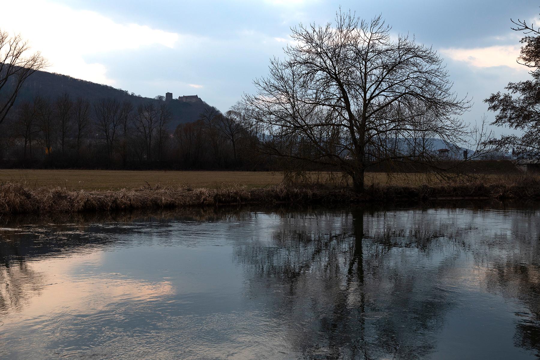 Blick auf Schloss Saaleck fotografiert mit Sigma 24-70 mm Arts