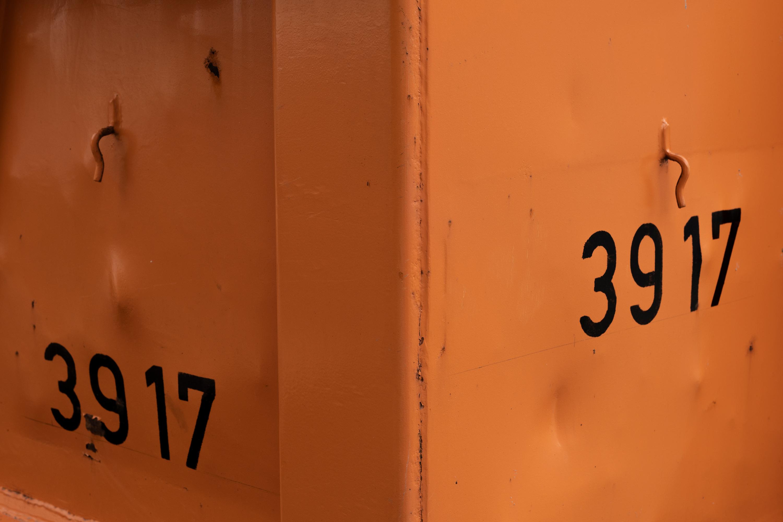 Bauncontainer, Detail, aufgenommen mit Nikon D7500