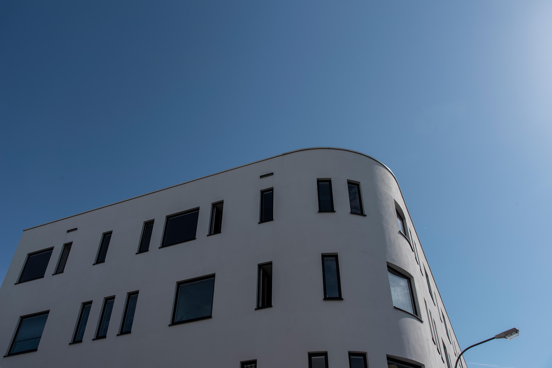 Fulda, modernes Gebäude, aufgenommen mit Nikon D750