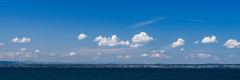 Blick zum Südufer des Bodensees
