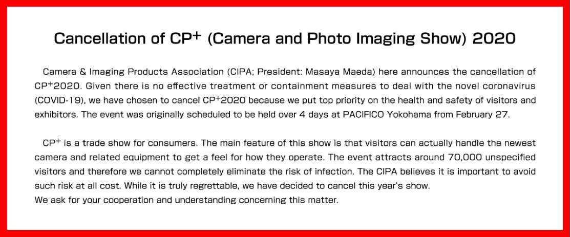 CP+ Absage